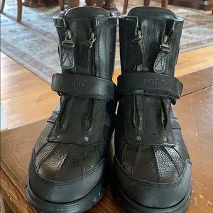 Polo Ralph Lauren black men's boots size 8.5